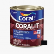 Esmalte Coralit Ultra Resistência Alto Brilho Preto 3,6 Litros Coral