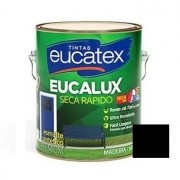 Esmalte Seca Rápido Fosco Premium Preto 900ml Eucatex