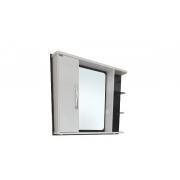 Espelheira Montreal 80x65,5cm Preto / Branco Corso