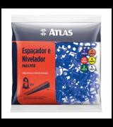 Nivelador Para Piso 1Mm Com 100 Unidades At50/1 Atlas