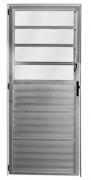 Porta Basculante Em Alumínio Brilhante 210x80cm Esquerdo Mogi Esquadrias