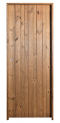 Porta De Madeira Calha Eco 180X60cm Esquerda Uniportas