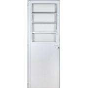 Porta Lambril Basculante Fortsul Em Alumínio Branco 210x90cm Esquerdo Esquadrisul