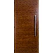 Porta Lambril Fortsul Em Alumínio Cerejeira 210x100cm Com Puxador Esquerdo Esquadrisul