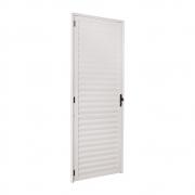 Porta Palheta Ecosul Em Alumínio Branco 210X80 Esquerdo Esquadrisul