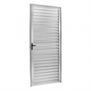 Porta Palheta Ecosul Em Alumínio Brilhante 210X80 Direito Esquadrisul