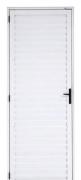 Porta Palheta Em Alumínio Branco 210x80cm Esquerdo Mogi Esquadrias