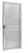 Porta Palheta Em Alumínio Brilhante 210x80cm Esquerdo Mogi Esquadrias