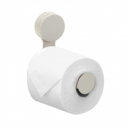 Porta Papel Higiênico Fixa Com Ventosa Off White Arthi