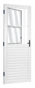 Porta Social Em Alumínio Branco 210x80cm Esquerdo Mogi Esquadrias