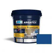 Rejunte Acrílico 1Kg Azul Mediterraneo Argatex