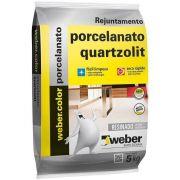 Rejunte P/Porcelanato 5Kg Bege Quartzolit
