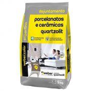 Rejunte P/Porcelanato 5Kg Palha Quartzolit