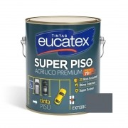 Tinta Acrílico Super Piso Premium Cinza 3,6 Litros Eucatex