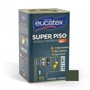 Tinta Acrílico Super Piso Premium Cinza Escuro 18 Litros Eucatex