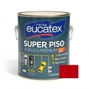 Tinta Super Piso Acrílico Premium Vermelho 3,6 Litros Eucatex