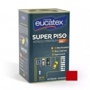 Tinta Super Piso Acrílico Premium Vermelho Segurança 18 Litros Eucatex