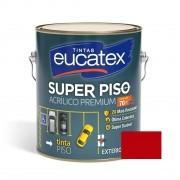 Tinta Super Piso Acrílico Premium Vermelho Segurança 3,6 Litros Eucatex