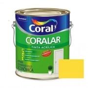 Tinta Coralar Acrílico Fosco Amarelo Frevo 3,6 Litros Coral