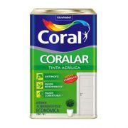Tinta Coralar Acrílico Fosco Branco 18 Litros Coral