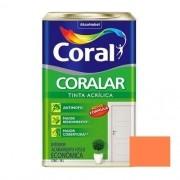 Tinta Coralar Acrílico Fosco Laranja Maracatu 18 Litros Coral