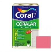 Tinta Coralar Acrílico Fosco Rosa Açaí 18 Litros Coral