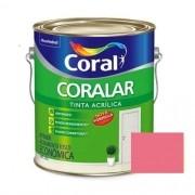 Tinta Coralar Acrílico Fosco Rosa Açaí 3,6 Litros Coral