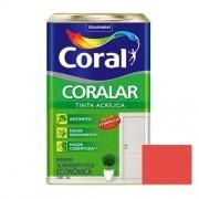 Tinta Coralar Acrílico Fosco Rubi 18 Litros Coral