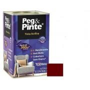Tinta Peg&Pinte Acrílica Rubi Real 18 Litros Eucatex
