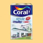 Tinta Rende Muito Acrilico Amrelo Canario 18Litros Coral