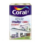 Tinta Rende Muito Acrílico Fosco Branco 18 Litros Coral
