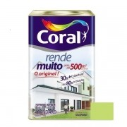 Tinta Rende Muito Acrílico Fosco Verde Limão 18 Litros Coral