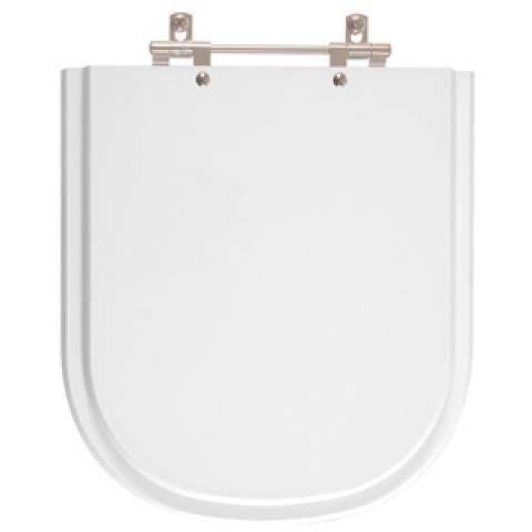 Assento Sanitário Madeira Laqueada Com Verniz Branco Flox  Fiori