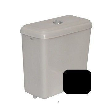 Caixa Acoplada Com Mecanismo Dual Flush Preto Primula Plus Fiori