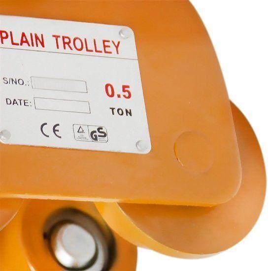 Carro Troley 0,5T Para Talaha Corrente Terra