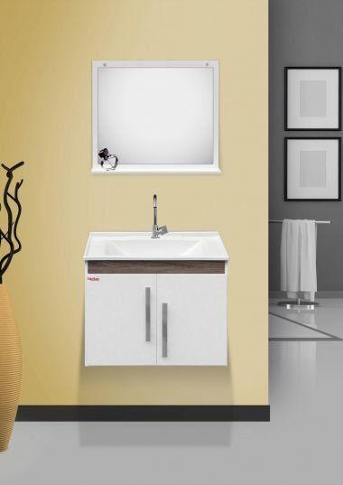 Conjunto Para Banheiro Tebas 60Cm Branco/Amendoa Fabribam