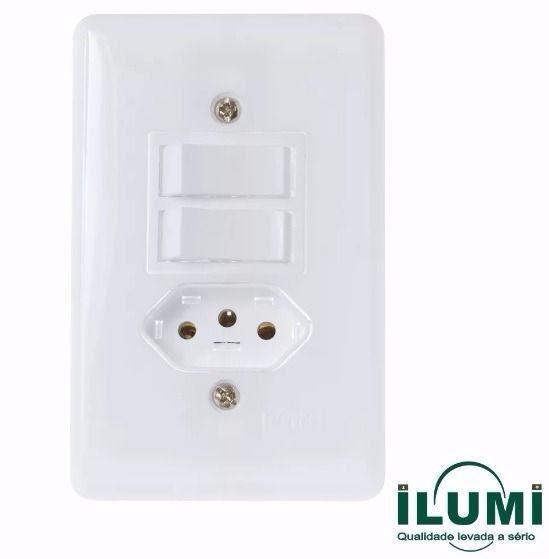 Conjunto De Interruptor 2 Teclas Simples + Tomada Stylus 20210 Ilumi
