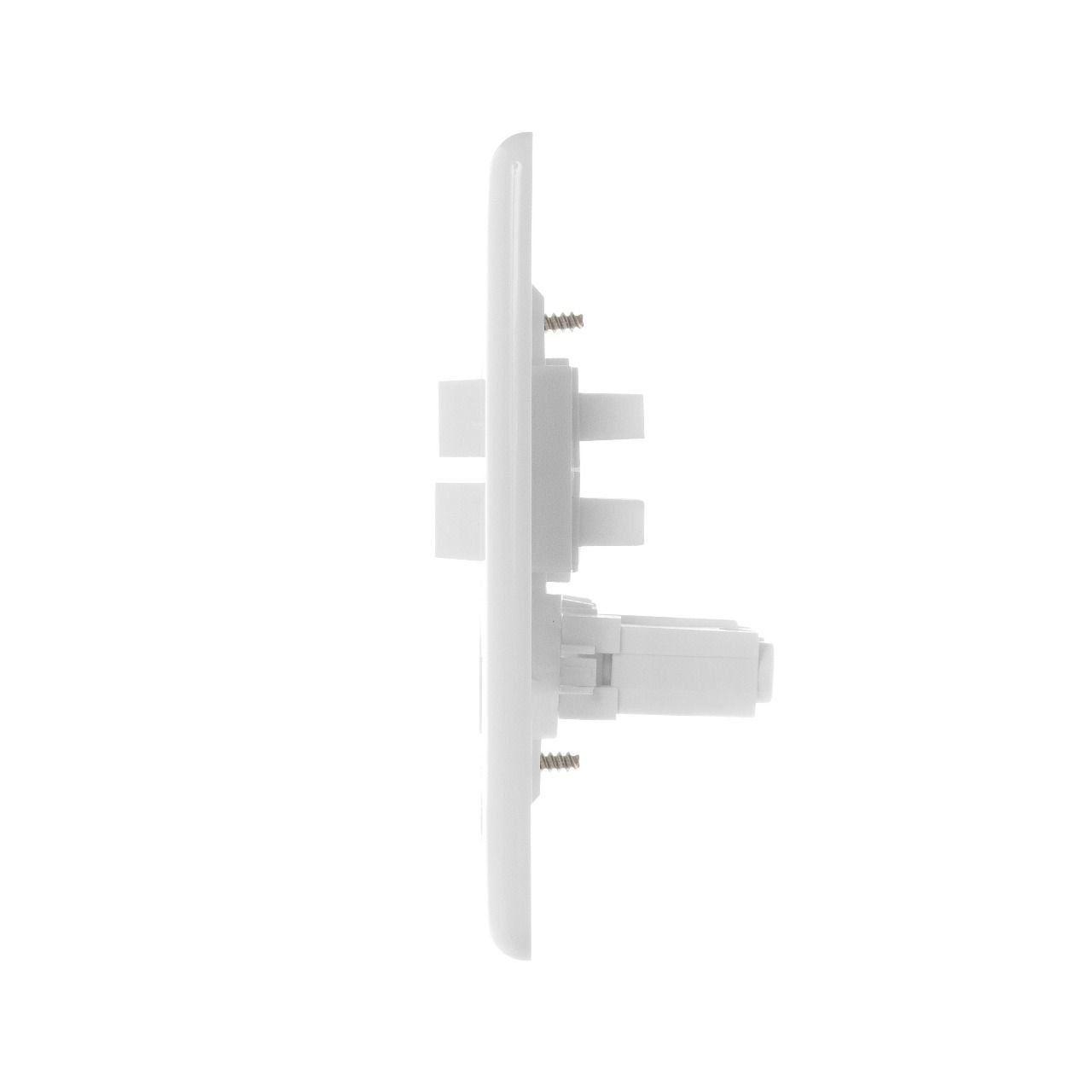 Conjunto De Interruptor Paralelo Com Tomada Stylus 20300 Ilumi