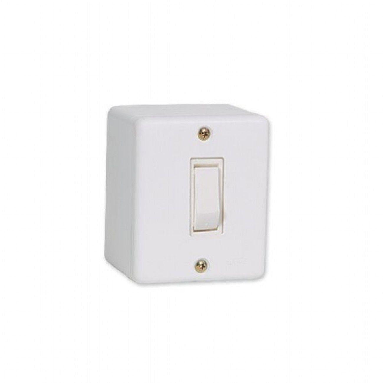 Conjunto De Sobrepor 1 Interruptor Simples 6317 Ilumi