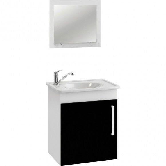 Conjunto Para Banheiro  Viena 42X50 Com Espelho Preto Mgm