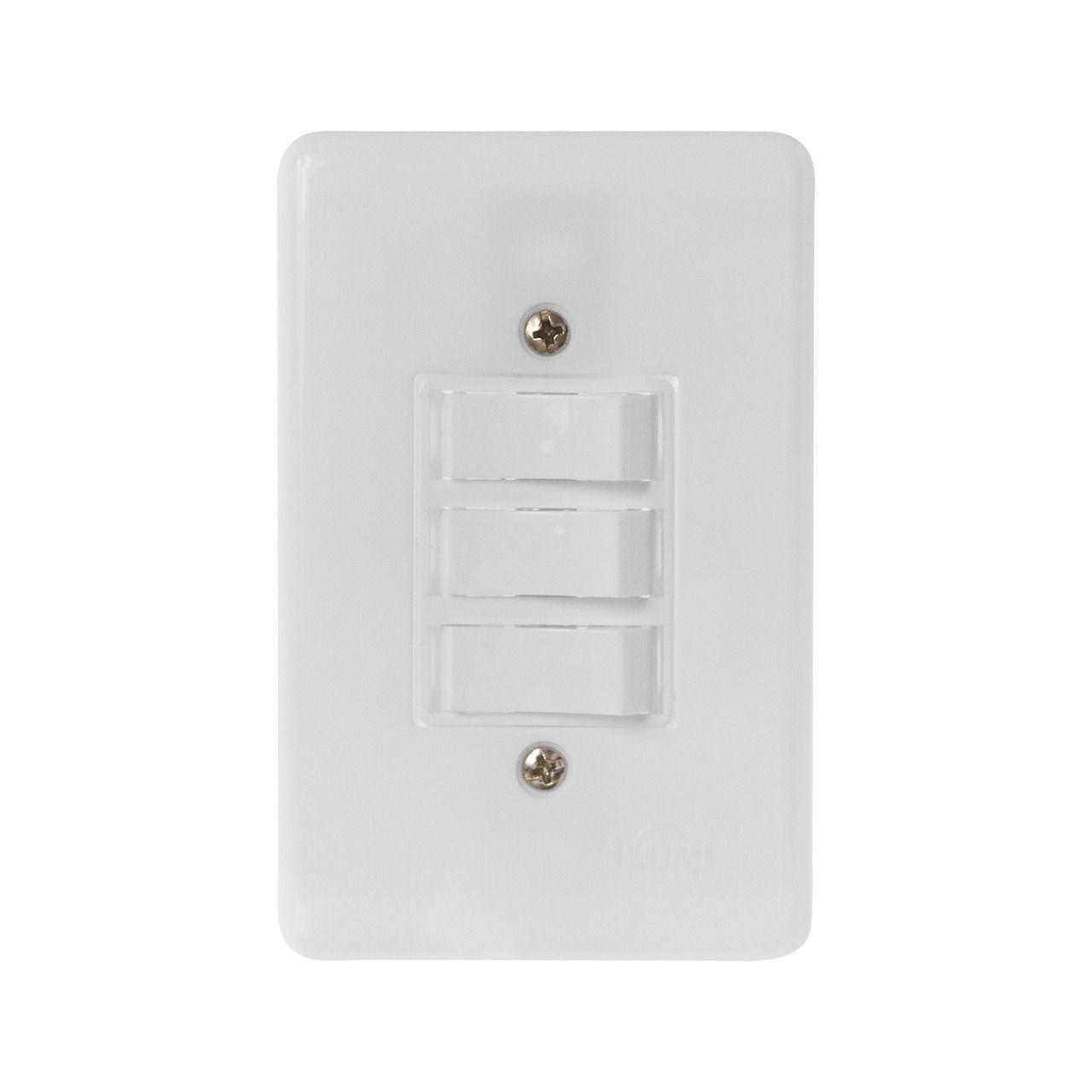 Conjunto Stylus 1 Interruptor simples +2 Interruptor Paralelo 2026 Ilumi