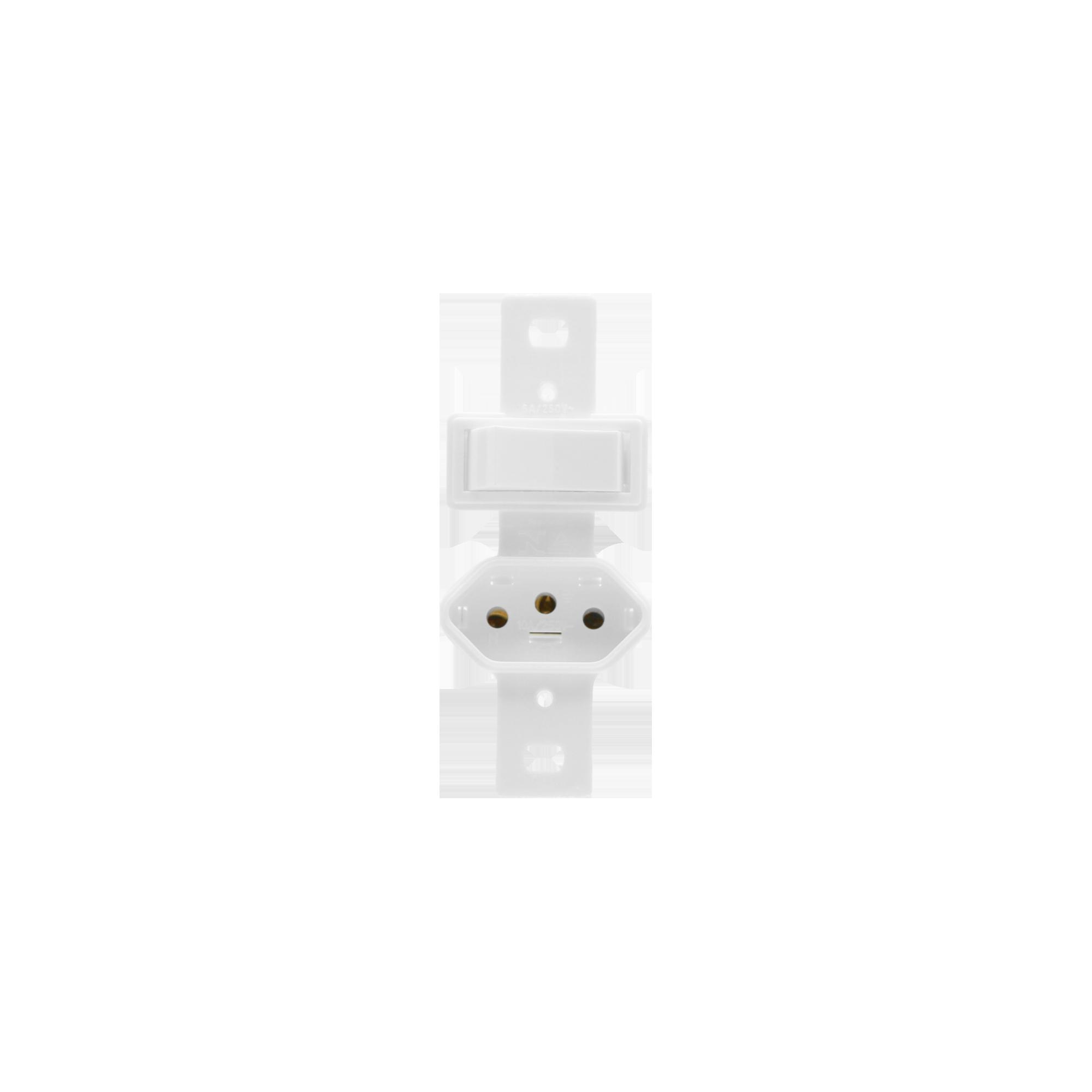 Conjunto Stylus 1 Interruptor Paralelo + Tomada 2P+T 20280 Ilumi