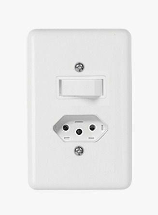 Conjunto Stylus 1 Interruptor Paralelo + Tomada 20A 20281 Ilumi