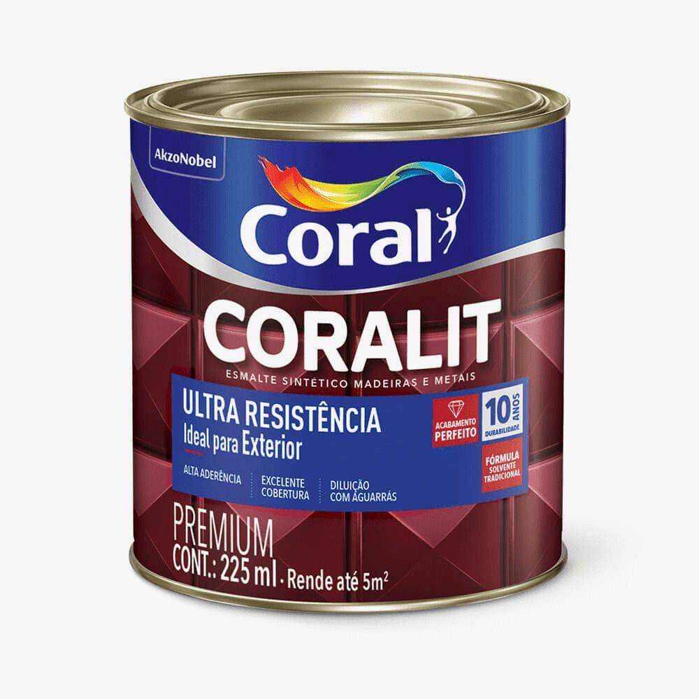 Esmalte Coralit Ultra Resistência Alto Brilho Branco 225ml Coral