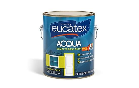 Esmalte Base Àgua Brilhante Branco 3,6 Litros Eucatex