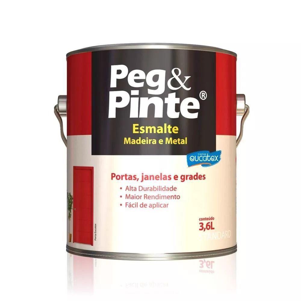 Esmalte Brilhante Alumínio Galão 3,6 Litros Peg Pinte