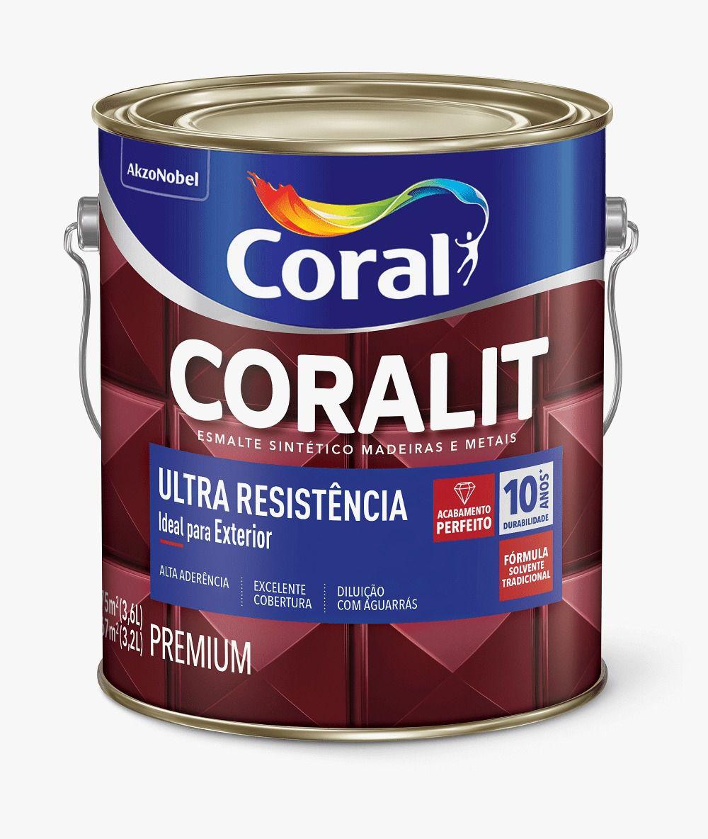 Esmalte Coralit Ultra Resistência Alto Brilho Branco 3,6 Litros Coral