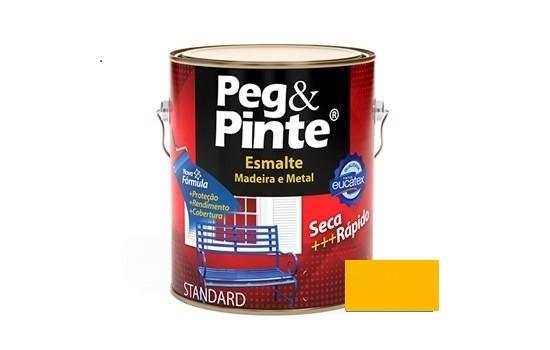 Esmalte Peg & Pinte Brilhante Amarelo 900ml Eucatex