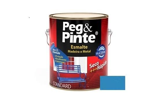 Esmalte Peg & Pinte Brilhante Azul Mar 3,6 Litros Eucatex