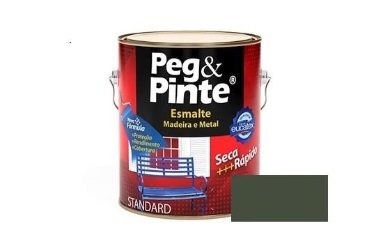 Esmalte Peg & Pinte Brilhante Cinza Escuro 3,6 Litros Eucatex